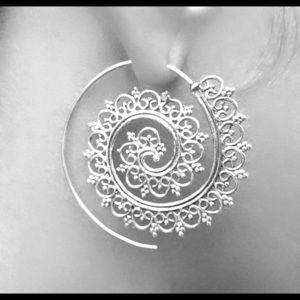 925 sterling silver long earring